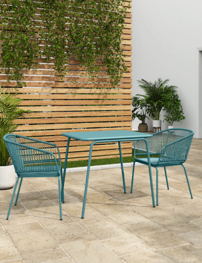 An Image of M&S Loft Lois 2 Seater Balcony Table & Chairs