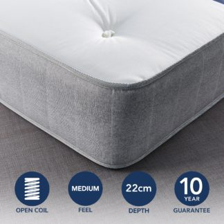 An Image of Fogarty Just Right Extra Comfort Open Coil Mattress White