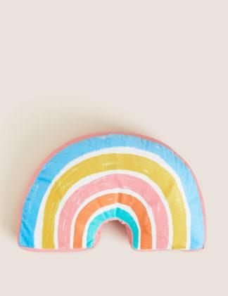 An Image of M&S Kids Rainbow Light Up Cushion