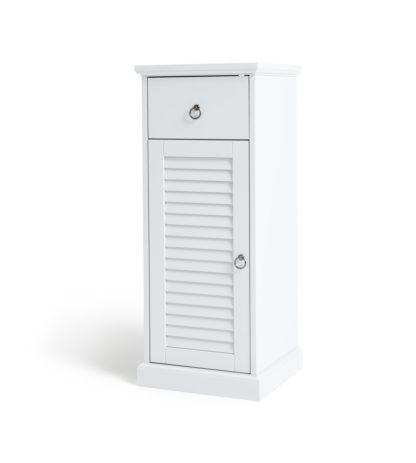 An Image of Argos Home Le Marais 1 Door Single Unit Cabinet - White