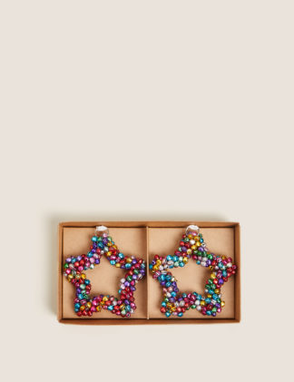 An Image of M&S 2 Pack Multicoloured Bell Hanging Decorations, Multi