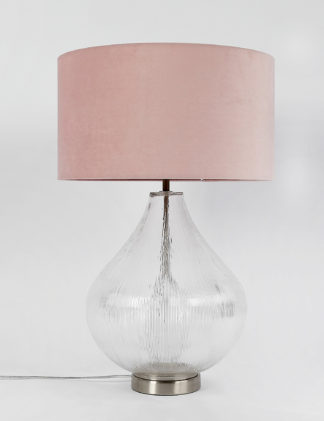 An Image of M&S Ripple Glass Table Lamp