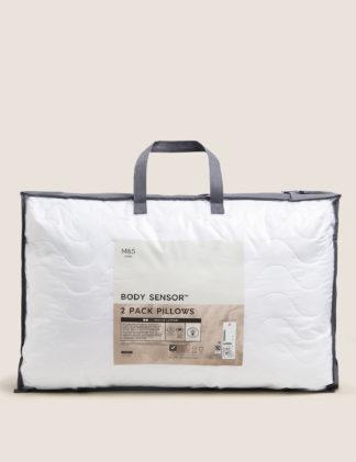 An Image of M&S 2 Pack Body Sensor™ Medium Pillows
