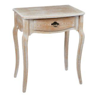 An Image of Provence Oak White Lamp Table White