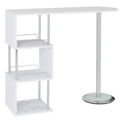 An Image of Charisma Bar Table White White