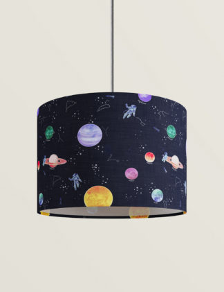 An Image of M&S Space Print Lamp Shade