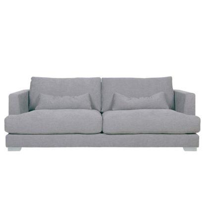 An Image of Flavin 2 Seater Sofa, Light Grey