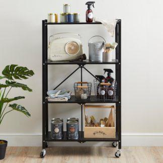 An Image of 4 Tier Folding Shelves Black