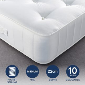An Image of Fogarty Dreamy Comfort 1000 Pocket Sprung Mattress Yellow