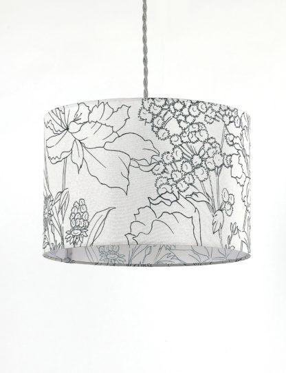 An Image of M&S Floral Print Lamp Shade