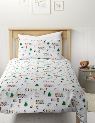 An Image of M&S Pure Cotton Snoopy™ Bedding Set