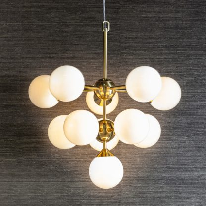 An Image of Globe Bulb Gold Pendant