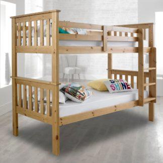 An Image of Atlantis Solid Pine Wooden Bunk Bed Frame - 3ft Single