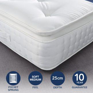 An Image of Fogarty Dreamy Comfort Pillow Top 1000 Pocket Sprung Mattress Yellow