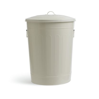 An Image of Habitat 49 Litre Trash Can Bin - Cream