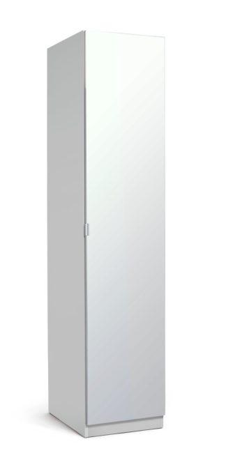 An Image of Habitat Munich 1 Door Mirror Wardrobe - White