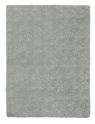 An Image of Argos Home Cosy Woven Cut Pile Rug - 80x150cm - Dove Grey
