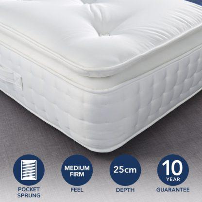 An Image of Fogarty Premium Pillow Top 2000 Pocket Sprung Mattress Yellow