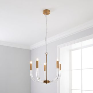 An Image of Hotel Finley 5 Light Ceiling Fitting Gold