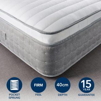An Image of Hotel Gel Pillow Top 3500 Pocket Sprung Mattress White