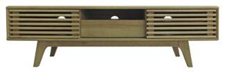 An Image of Copen 1 Door TV Unit - Oak