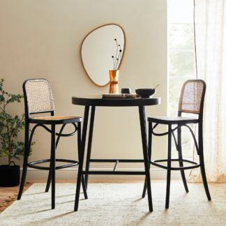 An Image of Tulle Bar Stool Black
