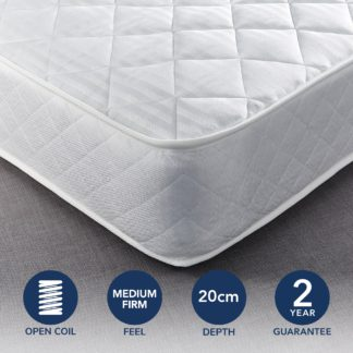 An Image of Dunelm Everyday Orthopaedic Open Coil Mattress Yellow