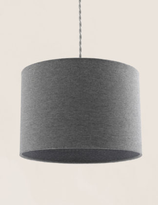 An Image of M&S Textured Drum Lamp Shade