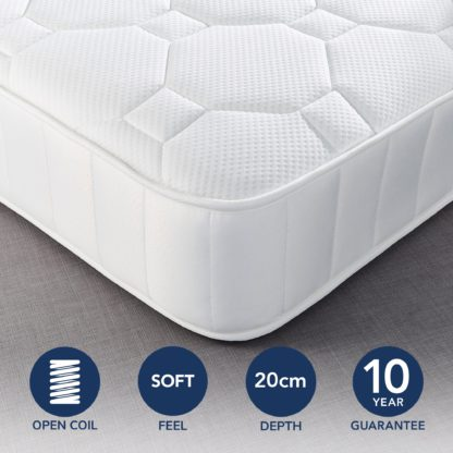 An Image of Fogarty Just Right Gel Top Open Coil Mattress White