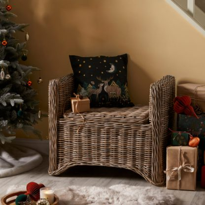 An Image of Rattan Storage Bench Natural