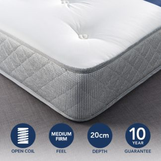 An Image of Fogarty Just Right Orthopaedic Open Coil Mattress White