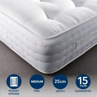 An Image of Hotel Emperor Wool 1000 Pocket Sprung Mattress Cream