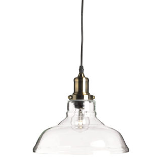 An Image of Retro Glass Electric Pendant Clear