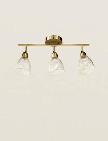 An Image of M&S Florence 3 Light Flush Bar Light