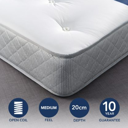 An Image of Fogarty Just Right Open Coil Mattress White