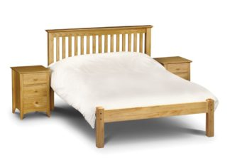 An Image of Barcelona Low Foot End Antique Solid Pine Wooden Bed Frame - 5ft King Size